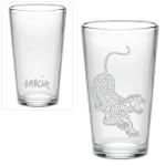 Jerry Garcia Tiger Pint Glass