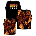 Kiss On Fire Ladies Sleeveless Shirt