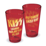 KISS Rock And Roll All Nite Pint Glass