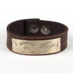 "Kenny Chesney 1"" Leather Cuff Bracelet"