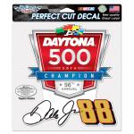 Dale Jr. 2014 Daytona 500 Perfect Cut Decal 8x8