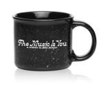 John Denver 'The Music Is You' Black Camper Mug