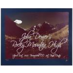 John Denver Rocky Mountain High / Earth Day Poster