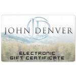 John Denver Electronic Gift Certificate