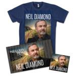 Neil Diamond - Melody Road CD + T Shirt + Fan Poster Bundle