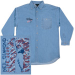 World Tour '05 Denim Shirt - Flag Design on Back