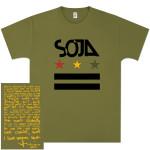 SOJA - Stars & Bars Olive T-Shirt