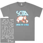 SOJA - Open My Eyes Grey T-Shirt