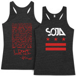 SOJA - Stars & Bars Black Ladies Cut Tank