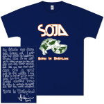 SOJA - Born In Babylon Cover T-Shirt (Navy)
