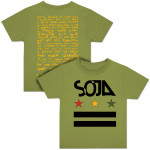 SOJA - Stars & Bars Youth Olive T-Shirt