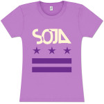 SOJA - Stars & Bars Ladies Lavender T-Shirt