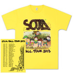 SOJA Fall Tour 2013 Yellow 50/50 T-Shirt