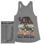 SOJA - 2013 Fall Tour Grey Ladies Tank