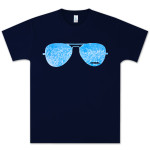 PITBULL Sunglasses T-Shirt in Navy Blue