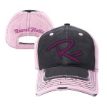 Pink and Grey Baseball Hat