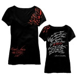 Roger Waters The Wall Live-Womens Black V-Neck Birds T-Shirt