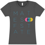 Mates Of State Women's Stretch Font T-Shirt