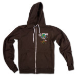 TAB Pilot Traveler Zip Hoodie on Brown