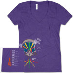 Women's TAB Pilot Traveler Tour T on Purple V-Neck