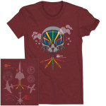 Trey Anastasio Band Pilot Traveler Tour T on Burgundy