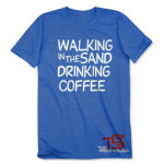 TR3 Walking in the Sand T-Shirt - Antique Sapphire