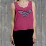 "Wonder Woman ""W W Logo"" Ladies' Crop Tank"