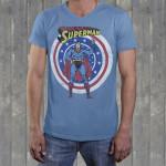 """Superman """"Super Peace"""" Men's Crew V-Neck"""