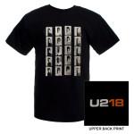U2 Mens Black 'U218' T-shirt