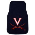 "UVA Carpet Car Mat 2 pc (18""x27"")"