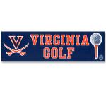 UVA Golf Bumper Sticker