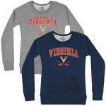 UVA Mid Distressed Scoop Neck Ladies Fleece Pullover