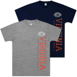 UVA Football Vintage Vertical Heather Ring Spun T-shirt