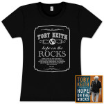 "Toby Keith: ""Hope on the Rocks"" Deluxe CD & Ladies T-Shirt Bundle"