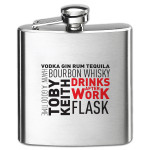 "Toby Keith ""Drinks After Work"" 6 oz. Flask"