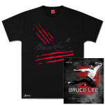 The Treasures of Bruce Lee Book/Immortality Series Scratches T-shirt Bundle