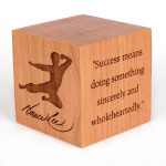 Bruce Lee Signature Wooden Paperweight - EXCLUSIVE