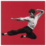 Bruce Lee Kick Wall Art