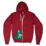 Explosions in the Sky Falconer Hoodie - Red/Green