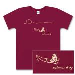 Women's Maroon Tiger in Boat T-Shirt