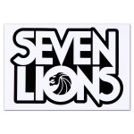 Seven Lions Square Logo Sticker