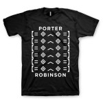 "Porter Robinson Stacked ""Worlds"" Logo Tee"