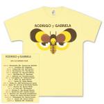 Rodrigo y Gabriela 2013 Tour Yellow Shirt