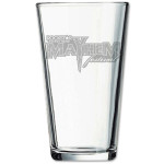 Mayhem Deep Etched Pint Glass