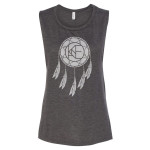 Kane Brown Ladies Dark Grey Heather Dreamcatcher Flowy Tank