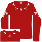 Tiesto - Nyana Around Neck Ladies Red Long Sleeve T-Shirt