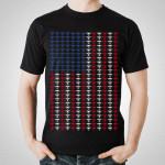 Tiesto - US Flag Black T-Shirt