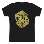 WOMEN'S METALLIC LOGO TEE IN GOLD