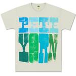Men's Wood Grain Pete Yorn Logo Tee