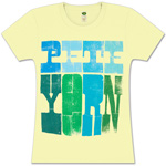Women's Wood Grain Pete Yorn Logo Tee